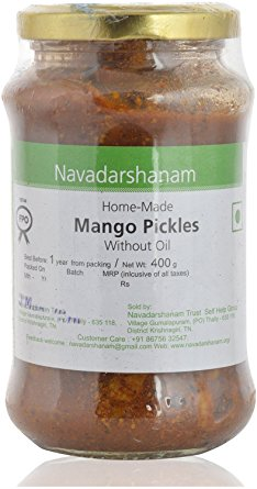 Navadarshanam Mango Pickle - without oil 400gm
