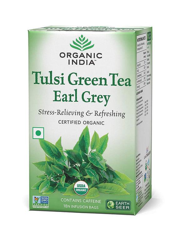 Tulsi Green Tea Earl Grey 18 Bags