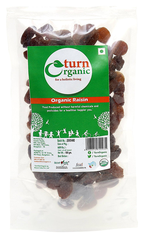 TURN ORGANIC Raisins (Kismis) 100gm