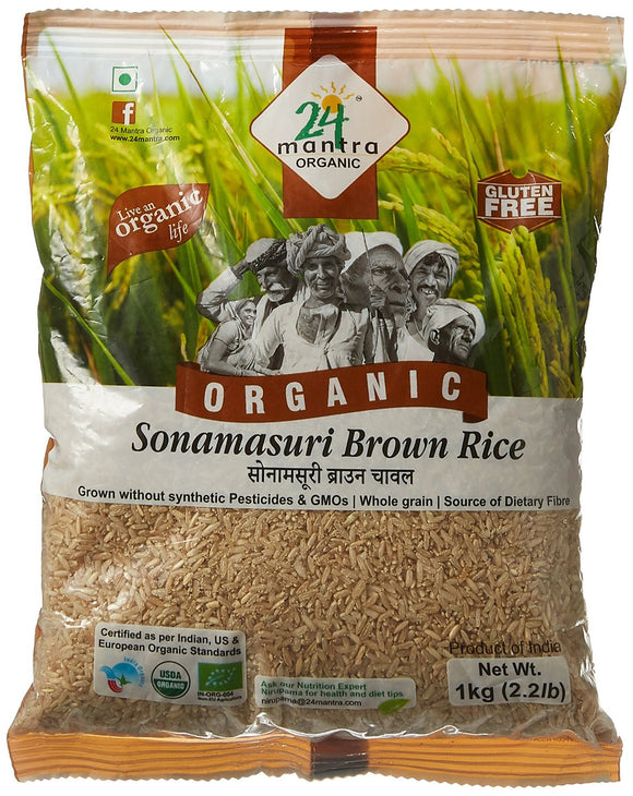 24Mantra Sonamasuri Rice (Brown)
