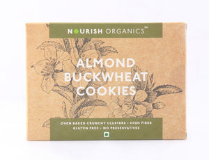 Nourish Organics Almond Buckwheat Cookies 150gm