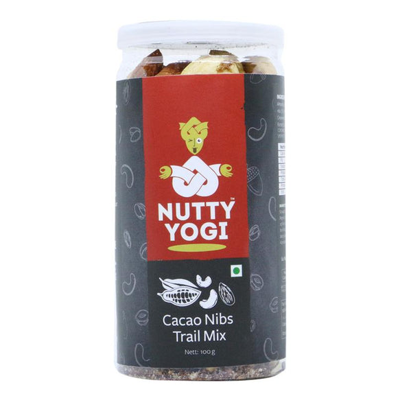 NUTTY YOGI Cacao Nibs Trail Mix 100Gm