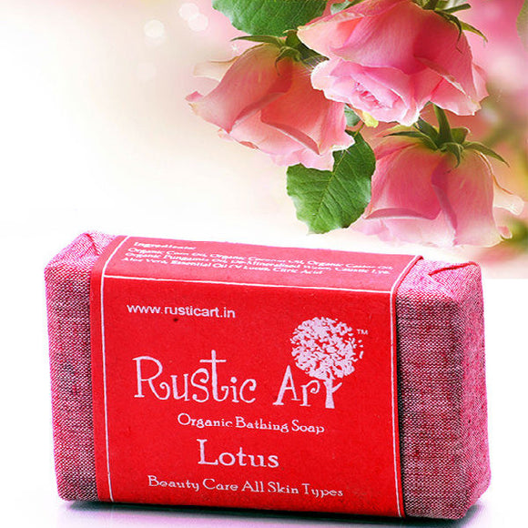 Rustic Art Lotus Soap