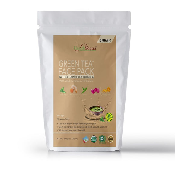 Health Sootra Green Tea Face Pack 100gm