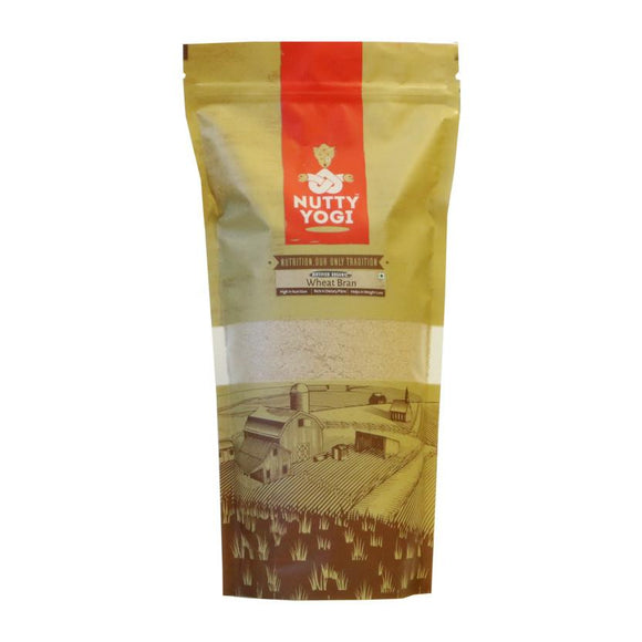 NUTTY YOGI Wheat Bran 500Gms