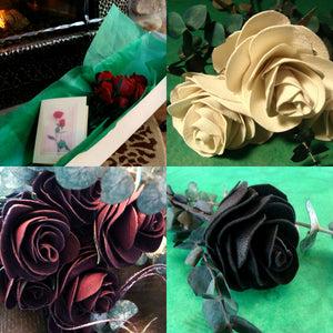 handcrafted, leather roses,