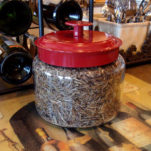 3-LBS OF YOUR FAVORITE BINESHII WILD RICE IN A GLASS JAR WITH A RED AIR-TIGHT LID. (Cooking Directions And Recipes Included.)