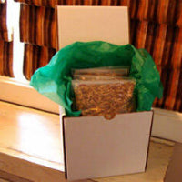 4-LBS OF WILD RICE IN A WHITE GIFT BOX CHOOSE GOURMET, GHOST, OR MIX AND MATCH.