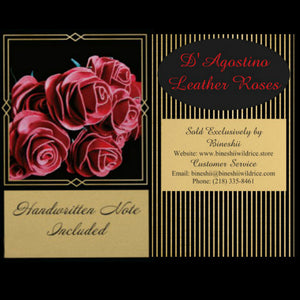 HANDCRAFTED D'AGOSTINO LEATHER ROSES BLACK