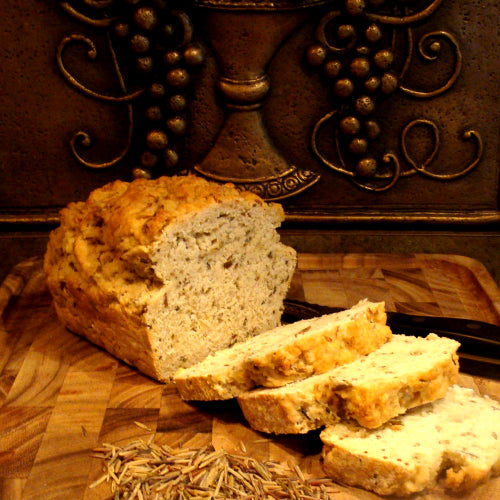 Bineshii wild rice bread loaf