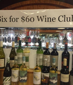 DUSTY'S SIX FOR SIXTY WINE CLUB GIFT CARD (Three Month)