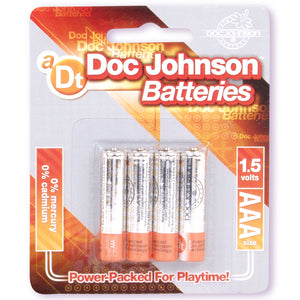 DOC JOHNSON BATTERIES AAA-4PK