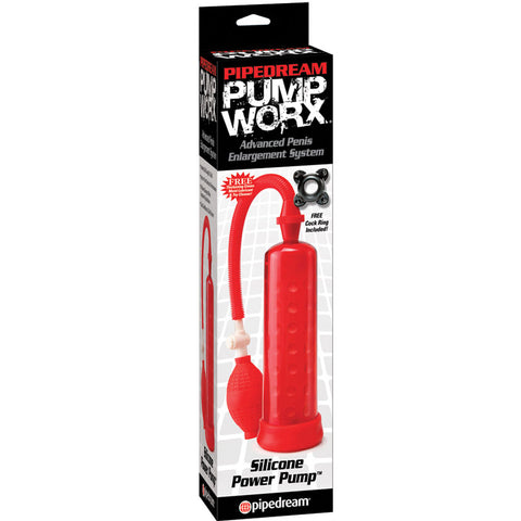 PUMP WORX-SILICONE PUMP RED