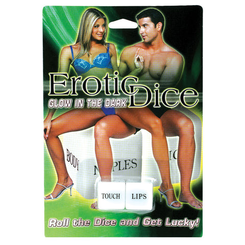EROTIC FOREPLAY GLOW DICE *