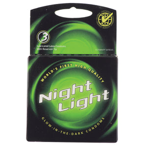 NIGHT LIGHT CONDOMS 3PAK BOX