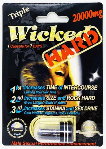 Wicked Black Hard 20000mg Triple Maximum Sexual Enhancement Pill