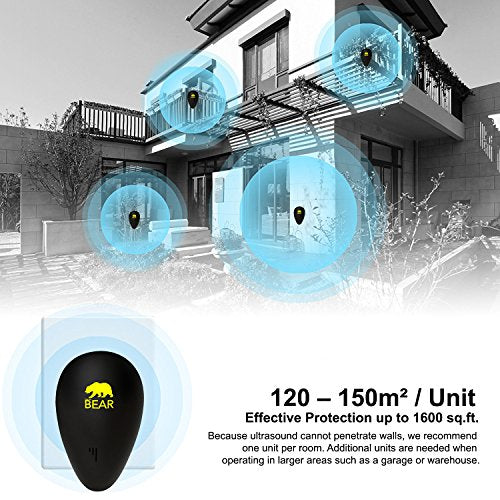Ultrasonic Pest Repeller Black 1 Pack