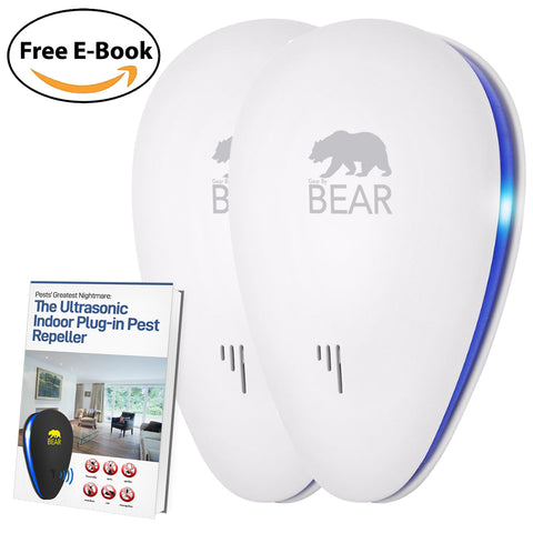 Ultrasonic Pest Repeller White 2 Pack