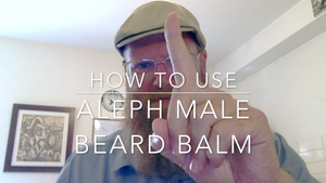 How to Use Aleph Male Beard Balm