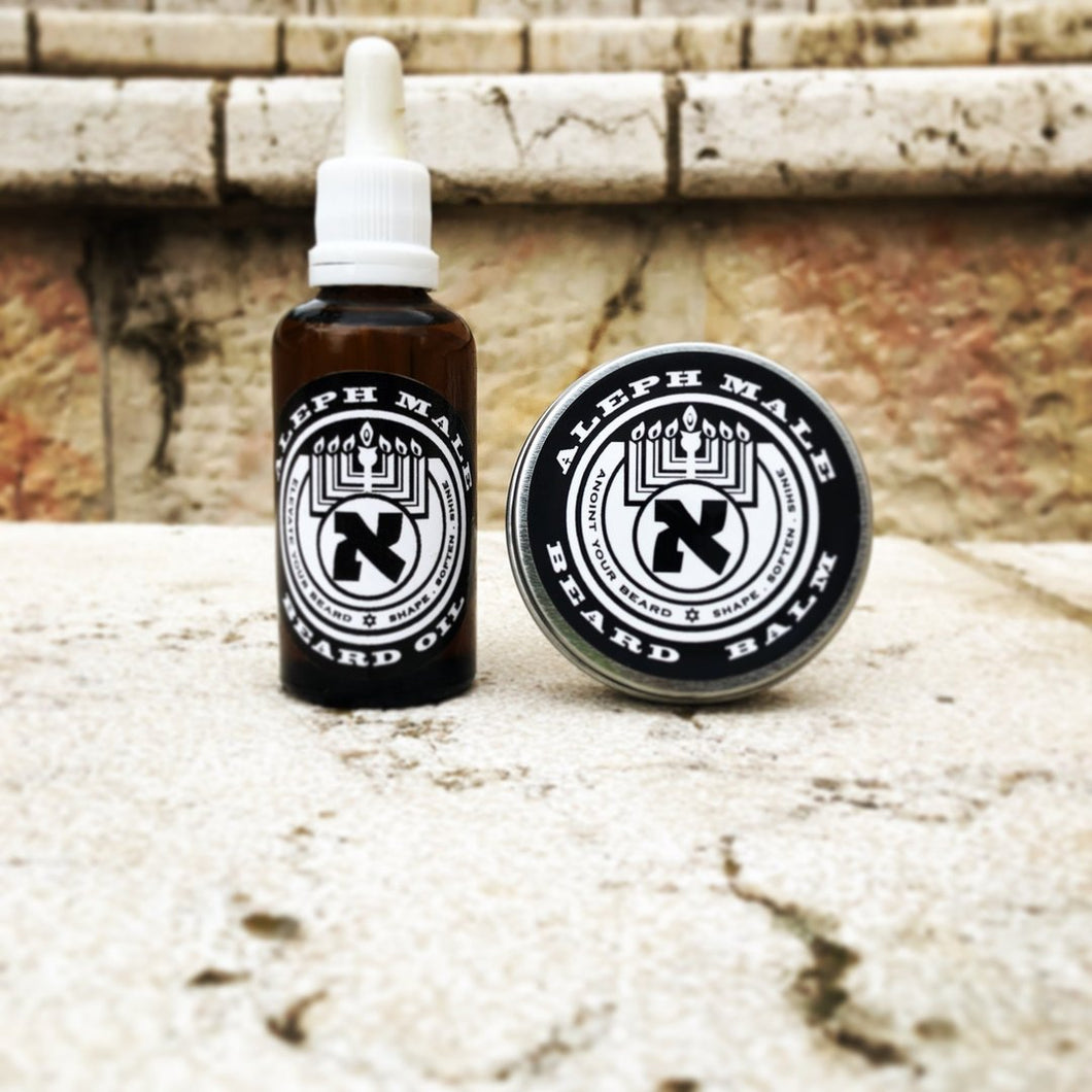 Aleph Male  Beard Oil+Balm Kit