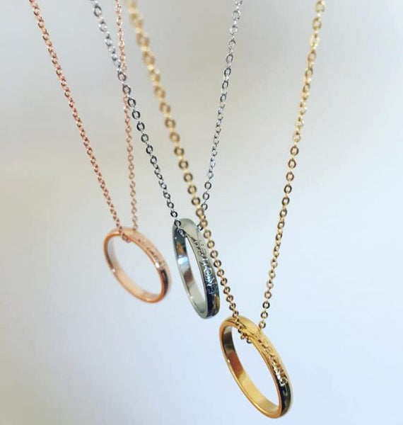 Gold Ring Necklace