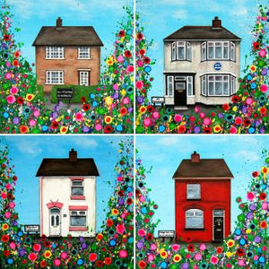 Beatles Childhood Homes, Liverpool, Print