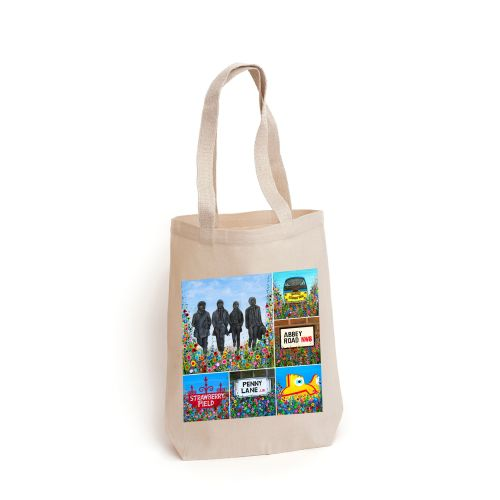 Beatles Montage Tote Bag