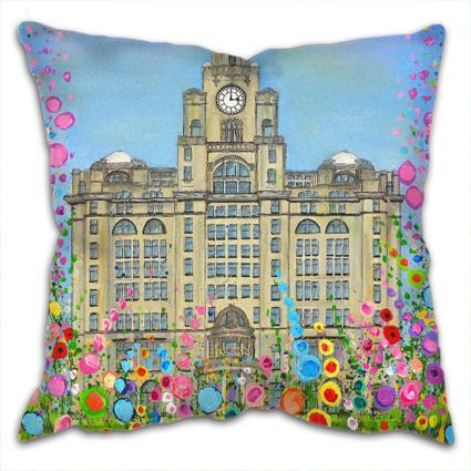 The Liver Building Cushion