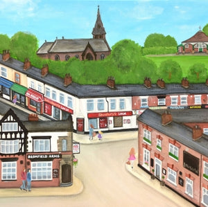 Hoole High Street, Chester, Print