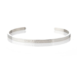 I AM A SURVIVOR – AFFIRMATION BRACELET – (SILVER)
