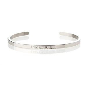 I AM CAPABLE – AFFIRMATION BRACELET – (SILVER)