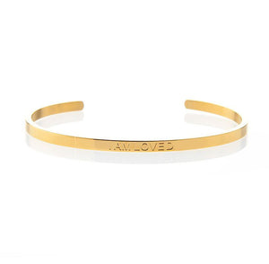 I AM LOVED – AFFIRMATION BRACELET – (GOLD)