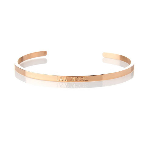 I AM MORE – AFFIRMATION BRACELET – (ROSE GOLD)