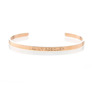 I AM MY RESCUER – AFFIRMATION BRACELET – (ROSE GOLD)