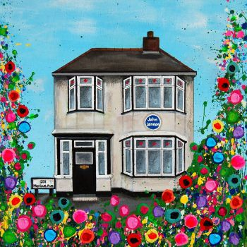 Jo Gough Art Johns Childhood Home, Liverpool, Print