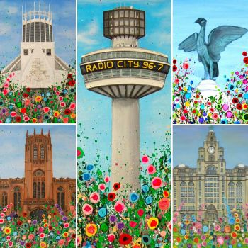 Cathedral Montage, Liverpool, Print
