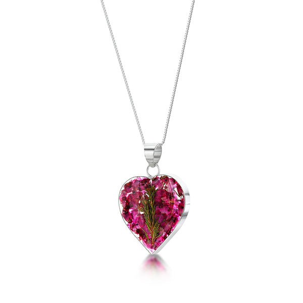 Silver Necklace - Heather - Med Heart