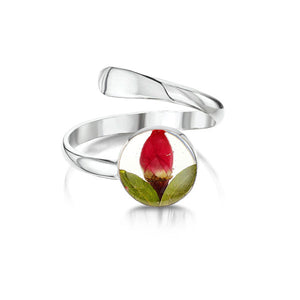 Silver Ring (Adjustable) - Rose - Round