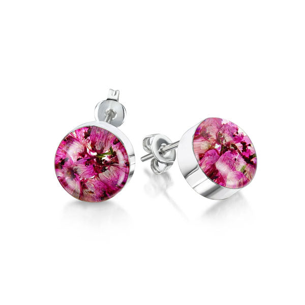 Silver stud Earrings - Heather - Sm Round