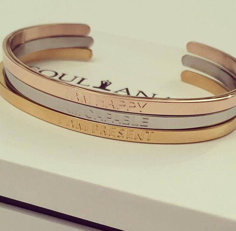 THE CALMING THOUGHTS BRACELET SET (ROSE GOLD, SILVER, GOLD)