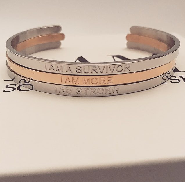 THE SURVIVOR BRACELET SET (SILVER, ROSE GOLD)