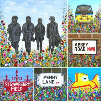 Beatles Montage, Liverpool, Print