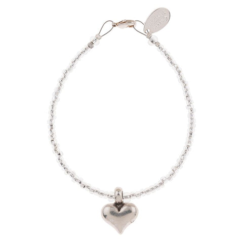 Silver Heart Strings Bracelet
