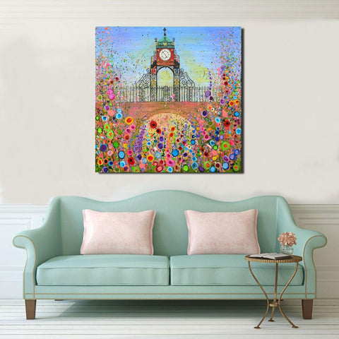 HAND EMBELLISHED CANVAS PRINT - EASTGATE CLOCK CHESTER