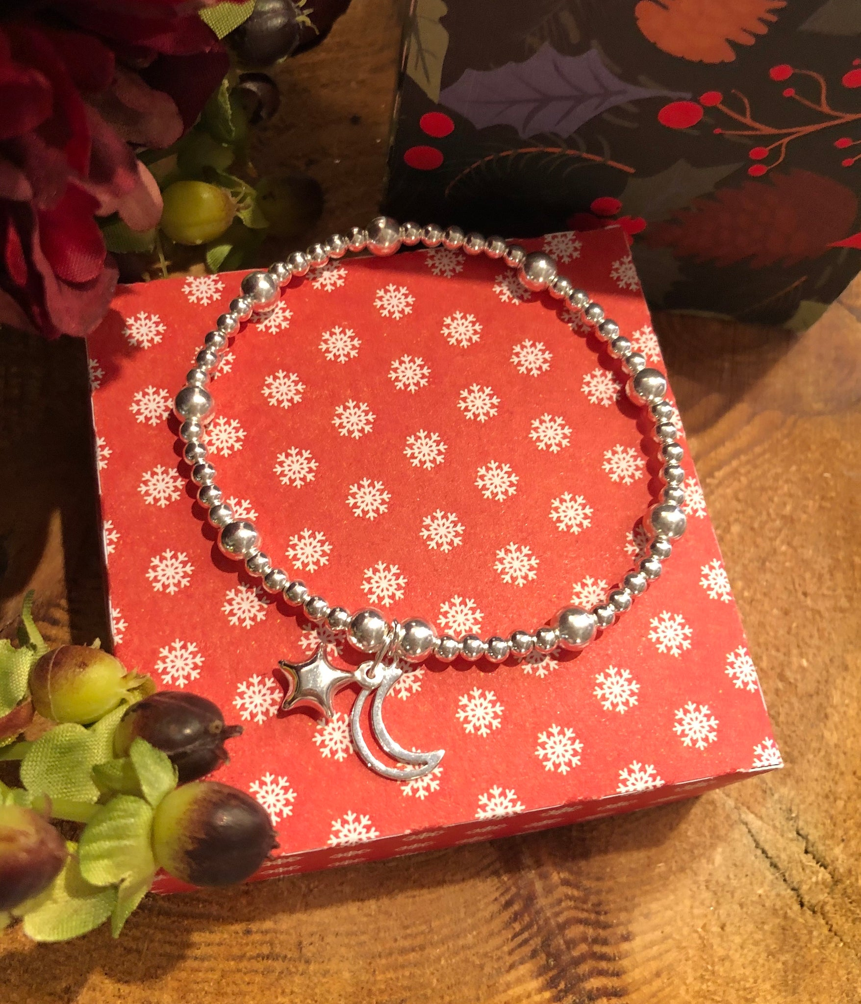 Moon and star charm bracelet