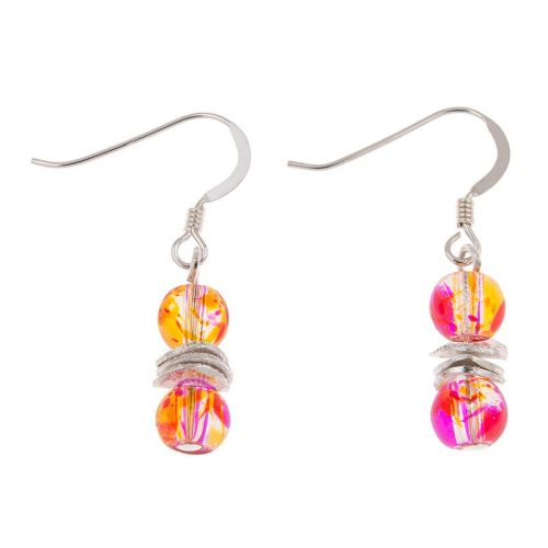 Peach Splashes Earrings