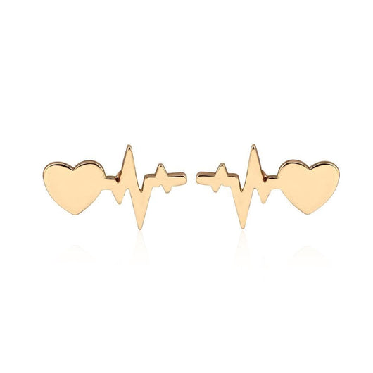 Healthy heartbeat minimalist stud earrings - Medical Swagg
