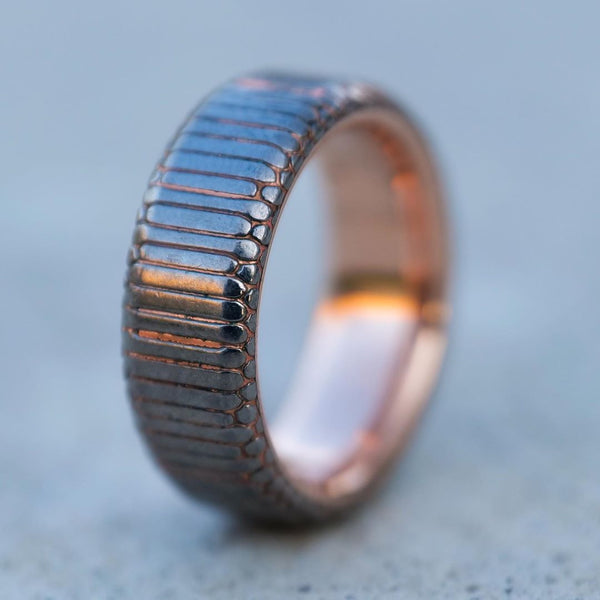 Superconductor Ring with Rose Gold Liner