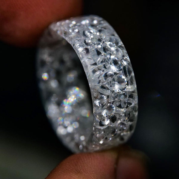 Pure Diamond Resin Ring - Diamonds