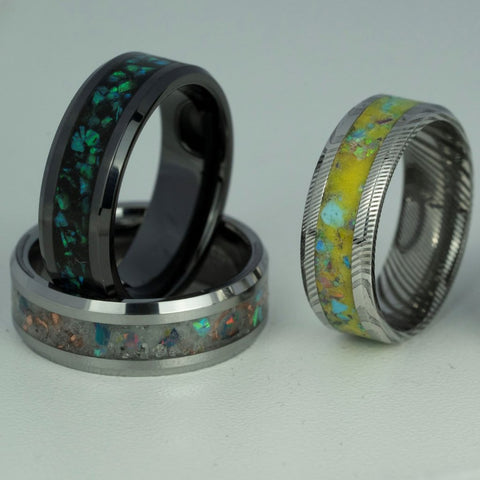 Raw Earth Tungsten Ring